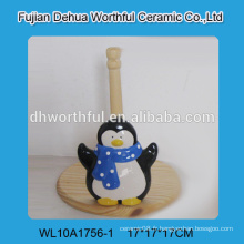 Porte-tissus animal 2015, porte-tissu en céramique à la forme de pingouin