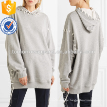 Oversized Whipstitched Cotton Jersey Hooded Top OEM/ODM Manufacture Wholesale Fashion Women Apparel (TA7006H)