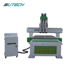 three processing cnc router with dust collector