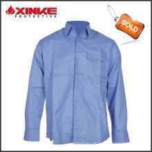 Chemise de vêtements de travail ignifuge en tissu anti-statique durable de grande vente fonctionnelle