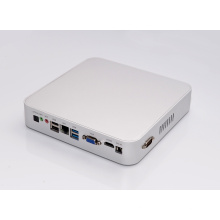 Fanless HTPC Kodi Quod Core Mini PC Windows 10 VGA HDMI COM USB3.0 Optical Computer