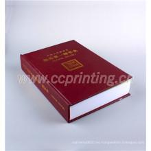 Impresión de libro de encuadernación cosida de tapa dura