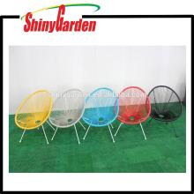 Stahl und Rattan-Schnur-Stuhl Acapulco stapelbarer Stuhl