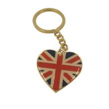 Andenken-Geschenke fertigten BRITISCHES Flaggen-Epoxy-Metall Keychain besonders an