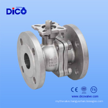 DIN Standard Floating Ball Valve with ISO5211 Mouting Pad