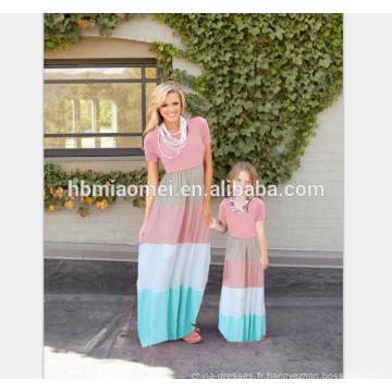 Chine fournisseur conception adorable mère et fille vêtements maman et moi robe maxi