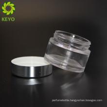 Cosmetic jar screw cap glass jar with screw metal lid