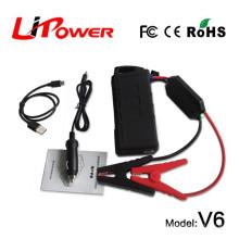 Mini tamanho 14000mAh 12v rc carro bateria salto começar compressor de estação de energia com clipes