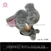Chapeau personnalisé d'animal d'hiver de modèle d'éléphant