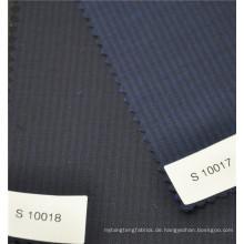 Superfine hohe Qualität Kammgarn 70% Wolle 30% Polyester Streifen Stoff für Anzugjacke Uniform