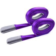 1 Ton 1M To 10M Length 30MM Width Cheap Price Polyester 1T Webbing Lifting Sling Belt Purple Color Safety Factor 8:1 7:1 6:1