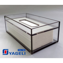 Custom Clear Acryl Tissue Dispenser Box für Badezimmer