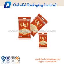 Bolsa de plástico empaquetada modificada para requisitos particulares de la categoría alimenticia de la cremallera con la cerradura y la manija