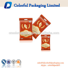 Customized printed zipper food grade packaging plastic bag with zip lock and handle