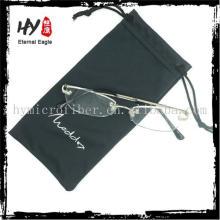 Sac de microfibre de haute qualité avec logo imprimé, sacs de cas de lunettes, sacs de montre de cordon de PVC