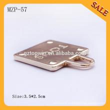 MZP57 PU de cuero de la PU de la manera de las mujeres de la manera empujan tirón de la cremallera del tirón