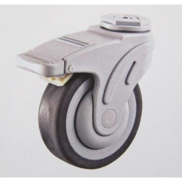 Plastic bolt hole brake hospital TPR caster