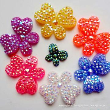 charming ornaments resin rhinestone flat back butterfly