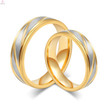 2017 fashion gold titanium steel couples ring finger for couples