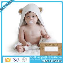 2017 Nouveau design bambou bébé à capuchon serviette bébé serviette de bain avec des oreilles d'ours