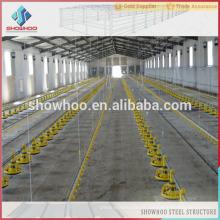 Showhoo structure en acier cadre structure de construction maison de poulet commercial maison de volaille à vendre