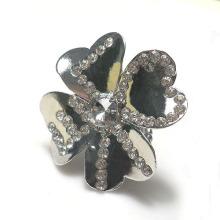 Vintage Ring,Rhinestone Flower Embellish Design,zinc alloy Stretch Rings For Women