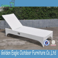 Luxury Elegance PE Rattan and Aluminum Sun Lounger