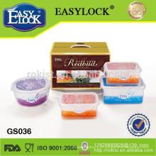 Recipiente de alimento plástico transparente armazenamento L Home
