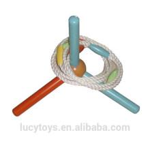 Clássica promoção de brinquedos de madeira anel de água anel jogo