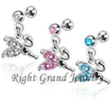 316L Stainless Crystal Anime Body Jewelry Helix Piercing Jewelry