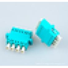 Adaptateur optique fibre optique Aqua Color OM3, lc 50/125 quad / 4 cores Adaptateur fibre optique OM3 avec 1000 fois la durabilité