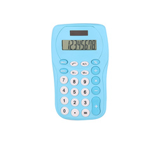 8 Digit Dual Power Colorful Pocket Calculator