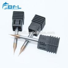 Fraises en bout à bouts sphériques de micro-diamètre du carbure solide 2 BFL de BFL pour l'acier