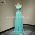 Wholesale Custom Made Long Chiffon Evening Dress Halter Sleeveless Beaded Stones Bridesmaid Dress