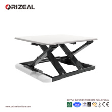 Bureau debout Orizeal blanc, configuration de bureau ergonomique, bureau de soulèvement (OZ-OSDC007)