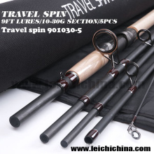 Оптовый 9ft Lure 10 - 30g Travel Spinning Fishing Rod