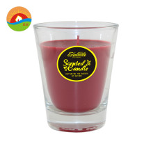 Scented Candle In 3Oz Round Glass Candle Jar