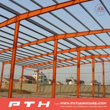 Armazém de estrutura de aço de grande porte de design personalizado pré-fabricado