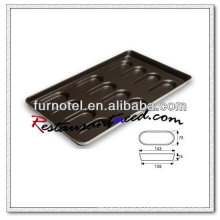 V036 Non-Stick 12 Individual Rectangle Hamburger Bun Pan