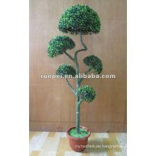 Bonsais artificiales de la bola del boj para la decoración del jardín, planta artificial