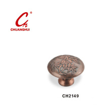 Copper Knob Handles with Decorative Pattern (CH2149)