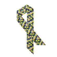 Floral Rechteckige Krawatte Stil Halstuch Custom Design Seidenschal