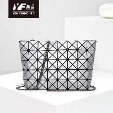 Bolso de hombro cepillado mate bolso de mujer de moda bolso pequeño con empalme de diamantes bolso de cadena de moda