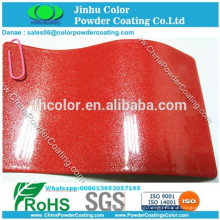 electrostatic spray Metallic red pearl powder coating