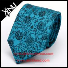 100% fait à la main noeud parfait cravate en soie tissée jacquard tissé floral acceptent le site Web PayPal