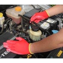 Нитрила покрытием безопасности работы перчатка (N1552)