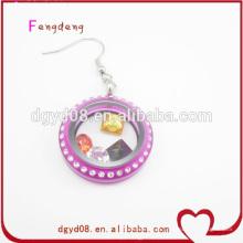 Fabricante de joias de mulheres de brinco especial acrílico cor roxa