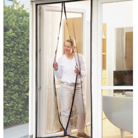 Hand Free Hanging Magnet Fly Screen Door Curtain