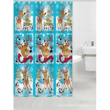 christmas fabric shower curtains