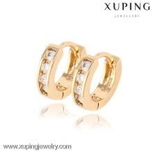 90189- Xuping Huggie Ohrringe Schmuck Mode Vergoldete Ohrringe mit guter Qualität